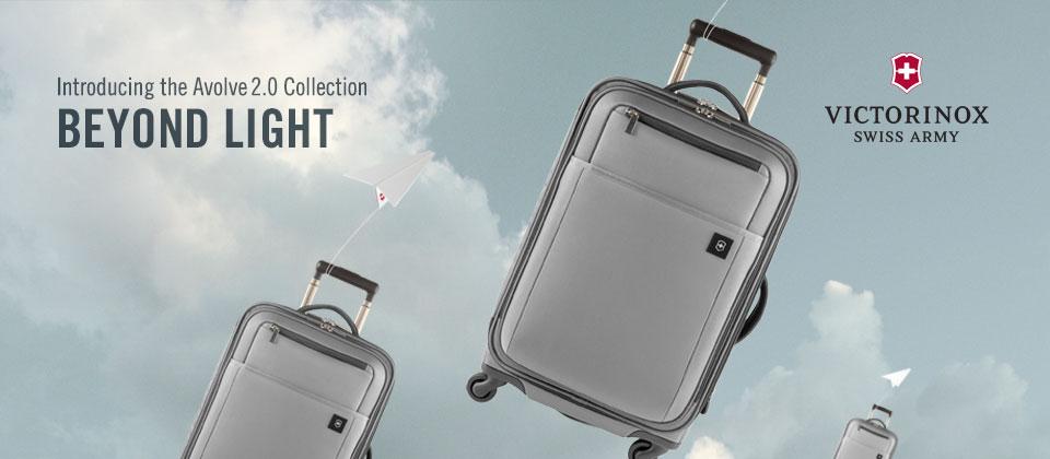 banner ad - victorinox avolve luggage